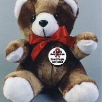 RED RIBBON TEDDY BEARS