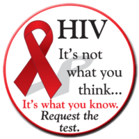 HIV Request the test stickers - Roll of 1,000