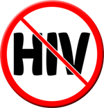 HIV...not permitted  - Button