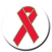 Red Ribbon Button