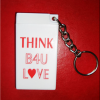 THINK B4U LOVE - Condom Key Chain
