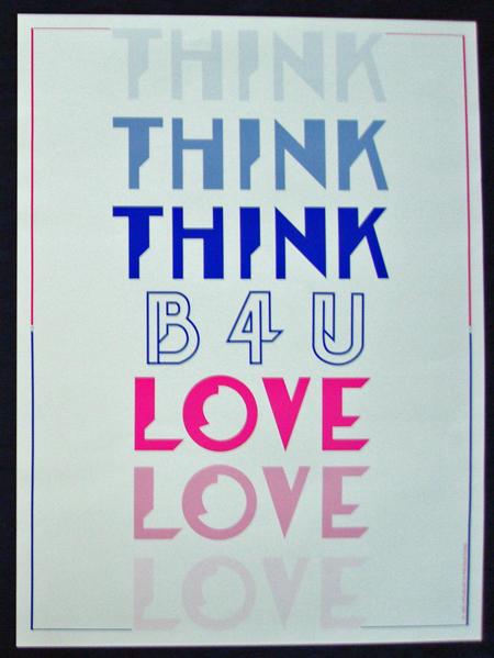 THINK B4U LOVE - Poster