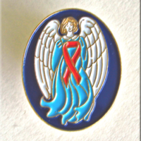 GUARDIAN ANGEL/Red Ribbon-Lapel Pin
