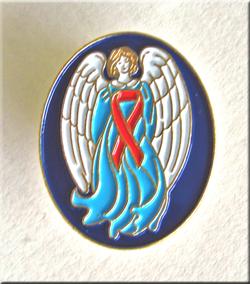 GUARDIAN ANGEL/Red Ribbon-Lapel Pin