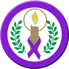 """CANDLE OF HOPE"" Purple Ribbon - Buttons"