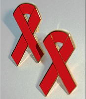 Red Ribbon - CLOISONNE Lapel Pin