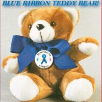 "Stop Sign/Child Abuse - Plush 9"" Teddy Bear"
