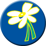 "Daisy 1.5"" Button"