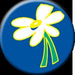 """Daisy 1.5"""" Button"""
