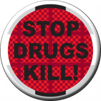 STOP DRUGS KILL!- Button
