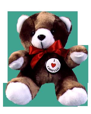 """""""I LOVE CAREFULLY"""" - Teddy Bear"""