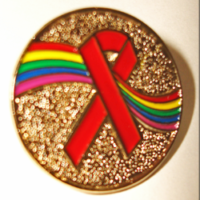 RAINBOW /Red Ribbon - Lapel Pin