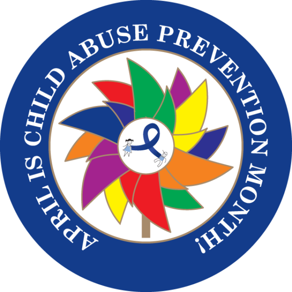 APRIL IS CHILD ABUSE PREVENTION MONTH BUTTON